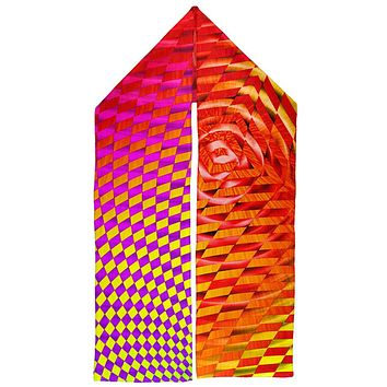 EDM Hypnotic Trance Rainbow Spiral Warm Fleece Scarf