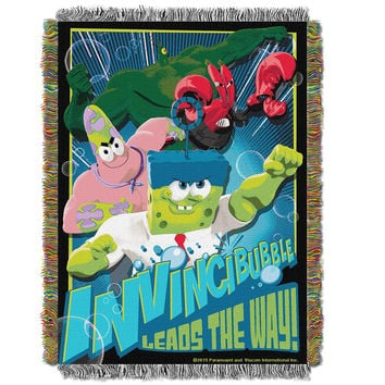 Spongebob Movie Invincibubble Triple Woven Jacquard Throw (48x60)
