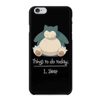 Things To Do Today Sleep Pokemon Snorlax iPhone 6/6S Case