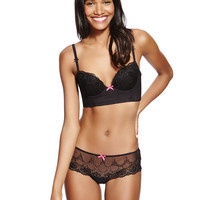 Embroidered Set with Longline A-DD Push-Up Balcony | M&S
