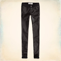 Hollister Vegan Leather Front Jeggings
