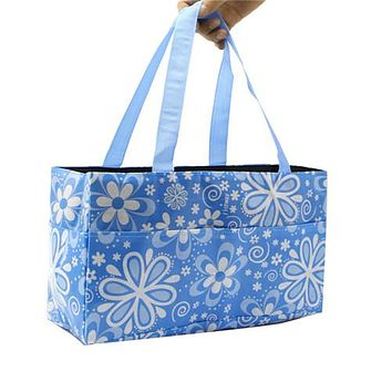 Organizers / Bags - Free Shipping - Floral Multifunctional Storage Bag - Blue