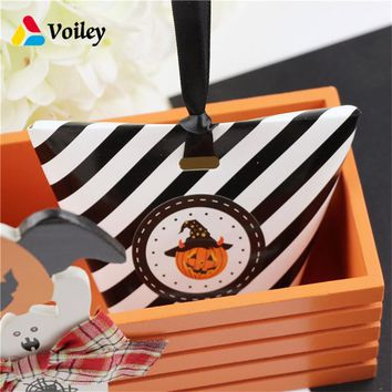 Birthday Party Kids Favors Pumpkin Witch Ghost Candy Boxs Halloween Decoration Gifts Organizer Paper Box Baby Shower Supplies,7