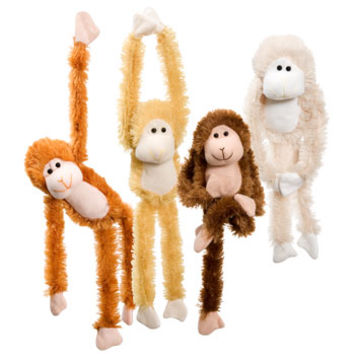 "Bulk Fuzzy Friends Plush Hanging Monkeys, 13½"" at DollarTree.com"