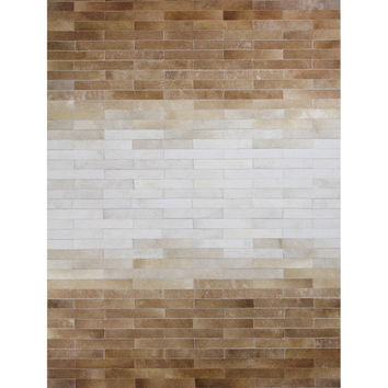 Ombre Cowhide Hand-Stitched Rug