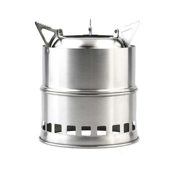 Portable Stainless Steel Camping Stove Outdoor Wood Stove Firewoods Furnace Lightweight BBQ Picnic Solidified Alcohol Stove new