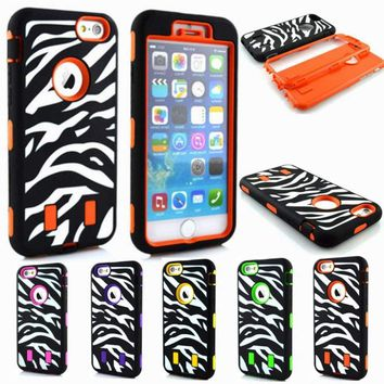 F iPhone 6 6S Plus Case Hybrid Hard Heavy Duty Shockproof Rubber Cover Accessory
