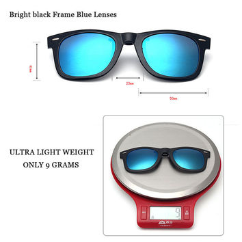 Polarized Clip On Sunglasses With Box Fit Over Sun Glasses Flip Up Prescription Glasses Wear Over Eyewear Anti Glare UV400 5840