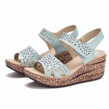 Ladies Beach Wedge Sandals