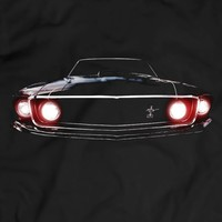 Mustang Boss 302 1969 T Shirt Tees Women Men Gift Idea Present Headlights Glow Black Holiday Gift Birthday