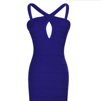 Cross Cut-out Bodycon Dress