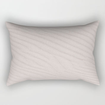 White Summer Sandy Beach Rectangular Pillow by ARTPICS
