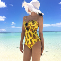 Cute Sexy Pineapple Triangle Swimsuit
