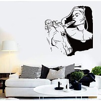 Wall Stickers Vinyl Decal Super Sexy Decor Bad Girl And Unicorn Bedroom Unique Gift (z2212)
