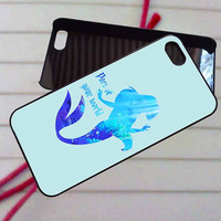 Ariel little mermaid quote - case iPhone 4/4s,5,5s,5c,6,6+samsung s3,4,5,6