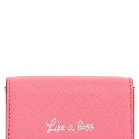 Rebecca Minkoff Like a Boss Leather Card Holder | Nordstrom
