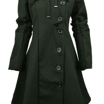 Womens Modern Winter Casual Long Coat