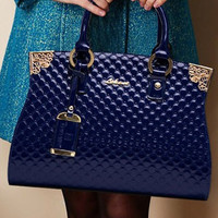 Genuine Patent Leather Handbag
