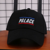 PALACE New fashion embroidery letter couple baseball hat sunscreen cap Black