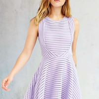 Silence + Noise Shadow-Stripe Skater Dress - Urban Outfitters
