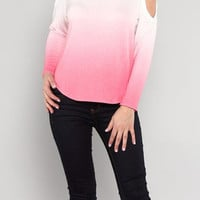 Candyspell — Open Shoulder Ombre Top