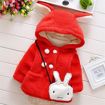 Toddler Baby Girls Hoodies Jacket & Coat Children Autumn Winter Girls Christmas Clothes Kids Outerwear Warm Sweater Clothing