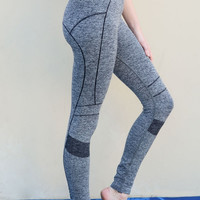 Grey Seamless Workout Leggings