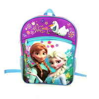 Frozen Large Pink and Blue Backpack