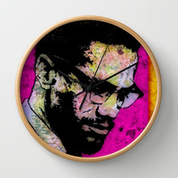 MALCOLM X-1965 Wall Clock by The Griffin Passant