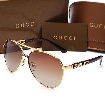 GUCCI Fashion Popular Sun Shades Women Men Eyeglasses Glasses Sunglasses