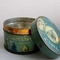 Antique Bonbon Tin by SundayBrocantes on Etsy