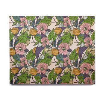 "Catherine Holcombe ""Spring Foliage"" Floral Pastels Birchwood Wall Art"