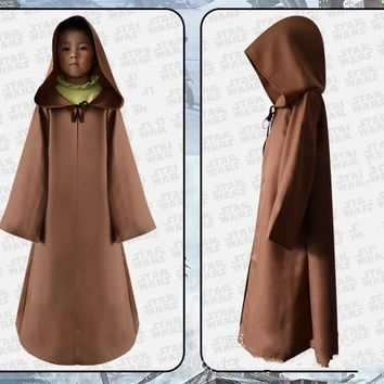 2f6d98f4a4 Star Wars Darth Vader Jedi Knight Kids Cloak Robe Cosplay Hooded