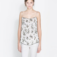 CAMISOLE TOP WITH LACE TRIM - Woman - New this week | ZARA United States