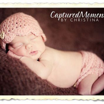 Diaper Cover and Hat Baby Hat  Crochet Diaper by Monarchdancer