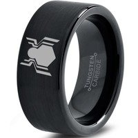 Spiderman Inspired Black Tungsten Ring