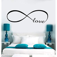 Decal Wall Vinyl Love Infinity Woman Girl Room Romantic Bedroom Art Stickers Unique Gift (ig3638)