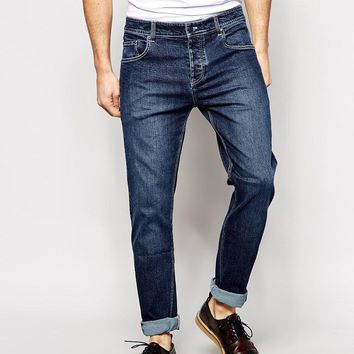 ASOS | ASOS Stretch Slim Jeans In Dark Wash at ASOS