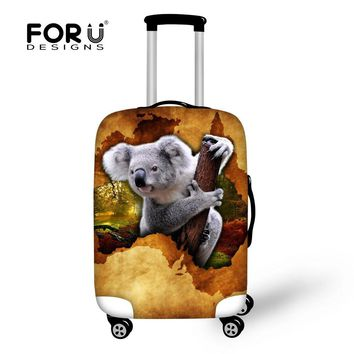 Cute Koala Print Luggage Protective Cover Animal Luggage Case Cover For 18-30 inch Suitcases Kangaroo Waterproof Luggage Covers