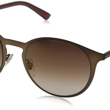 Gucci Sunglasses - 2263 / Frame: Brown Green Red Lens: Brown Gradient Bronze Mirror