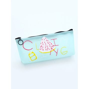 Pitaya Pattern Jelly Pencil Case