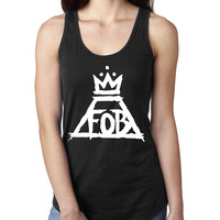 Fall out boy Ladies  Racerback Tank Top