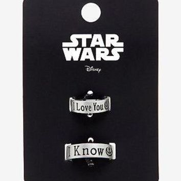Licensed cool Star Wars I Love You / I Know Ring Set Size 7 & 10 Han Solo Leia Rings Loungefly