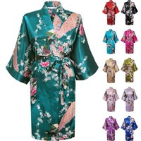Swhiteme Women's Kimono Robe, Short, with Pockets
