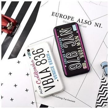 Hot License Plate iPhone Case