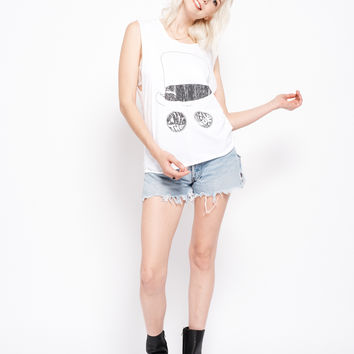 Into The Great Wide Open Muscle Tee - Bright White