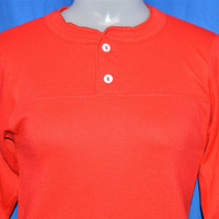 70s Double Layer Long Sleeve Thermal Henley t-shirt Women's Extra-Small