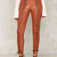 Line & Dot Juniper Corset Leggings - Orange