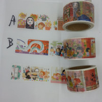 "Exclusive Shop Original 30mm Hayao Miyazaki "" Kiki's Delivery"" or ""Spirited Away"" Washi Tapes sample collection for Ghibli Studio Manic"