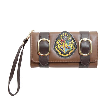 Harry Potter Hogwarts Gold Double Buckle Flap Wallet